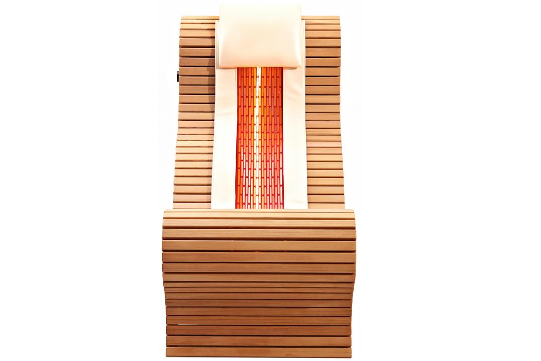 infrarood ligstoel rug